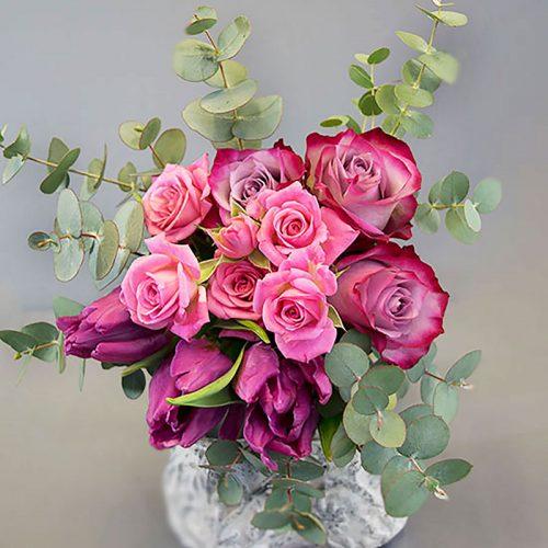 Cvjećarnica Fani_Buketi_Ljubičasta romansa mali
