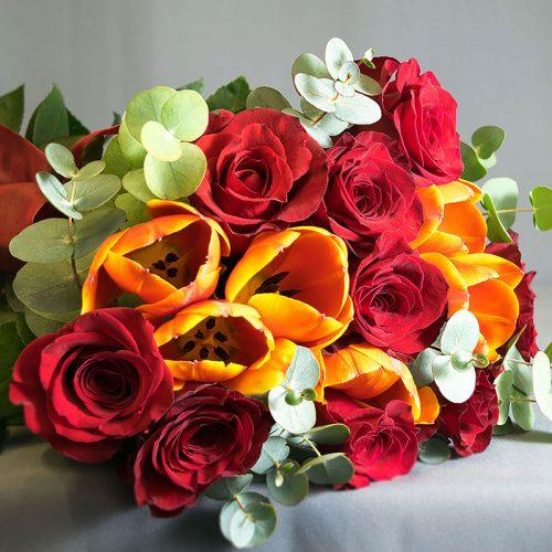 Cvjećarnica Fani_Buketi_Vatrena ljubav srednji