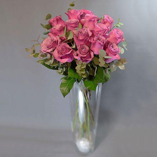 Cvjećarnica Fani_Rezano cvijeće_Ružičaste ruže sa zelenilom_