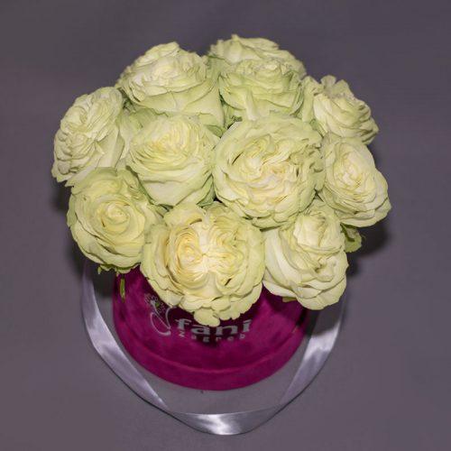 Cvjećarnica Fani_Flowerbox_Bijele ruže u kutiji_