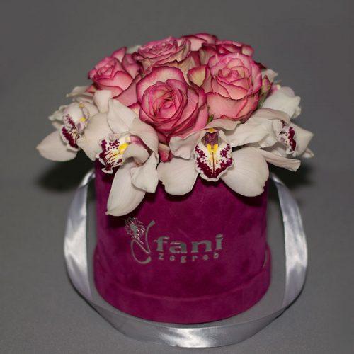 Cvjećarnica Fani_Flowerbox_Orhideje i ruže u kutiji