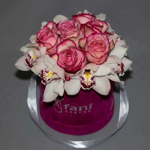 Cvjećarnica Fani_Flowerbox_Orhideje i ruže u kutiji_