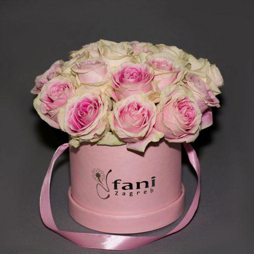 Cvjećarnica Fani_Flowerbox_Ružičaste ruže u kutiji