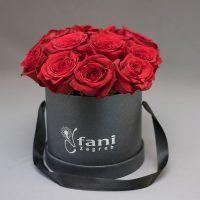 Crvene ruže u crnoj deluxe kutiji S_Cvjećarnica Fani