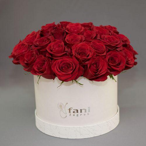 Cvjećarnica Fani_Flowerbox_Crvene ruže u bijeloj kutiji